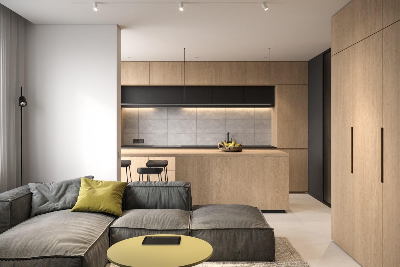 Tiny Apartment - small apartment interior design by Bezmirno