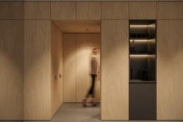 Клас Йога студії, вид на вхідні двері