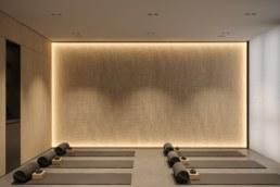 Клас Йога студії, вид на задню стіну