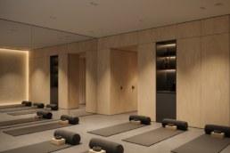 Yoga class entrance view 2