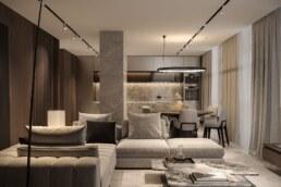 11-Французький Квартал 2, дизайн інтер'єру вітальні