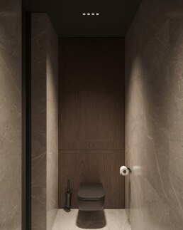 Французький Квартал 2, дизайн інтер'єру гостьового санвузла