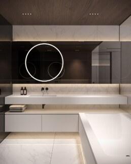 Французький Квартал 2, дизайн інтер'єру господарської ванної кімнати