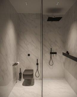 Французький Квартал 2, дизайн інтер'єру господарської ванної кімнати Душ