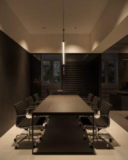 Дизайн інтер'єру сучасного офісу, кімната переговорів