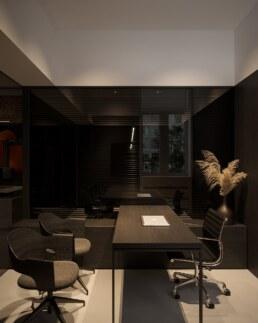 Дизайн інтер'єру сучасного офісу, невеликий кабінет керівника