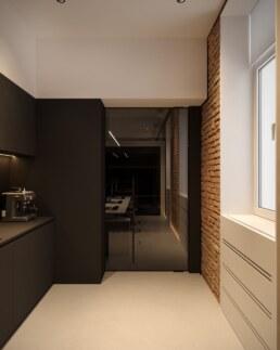 Дизайн інтер'єру сучасного офісу, кухня