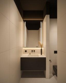 Дизайн інтер'єру сучасного офісу, туалет