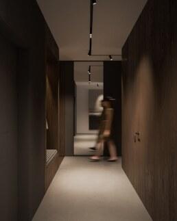 Darkwood Дизайн інтер'єру сучасного офісу, душ