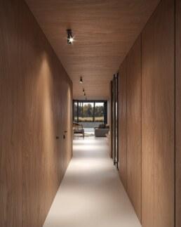 Nero House Plywood interior