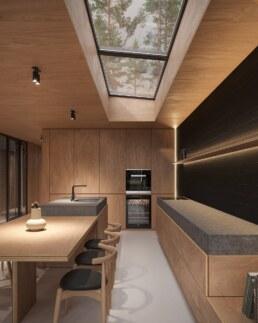 Nero House Kitchen Plywood interior