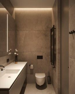 Nobel interior design grey bathroom