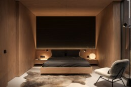 Nero House Bedroom Plywood interior