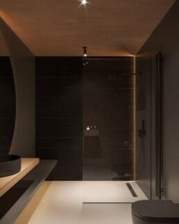 Nero House Shower interior