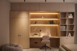 Nobel interior design light children's room for a girl
