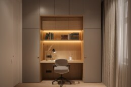 Nobel interior design light children's room for a girl working table