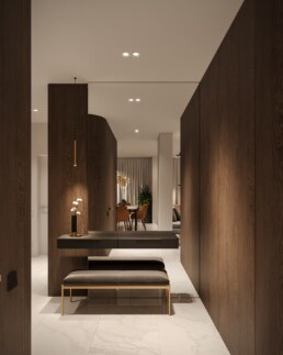Notte Interior Design Entrance, Corridor interior