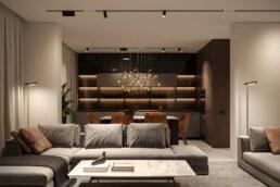 Notte Interior Design Entrance, Living room design