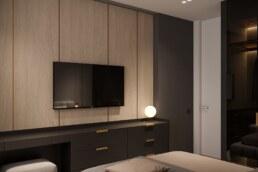 Notte Interior Design, Bedroom design, Rest view