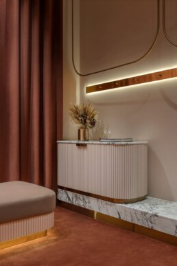 Women's fitting room, Interior, Design