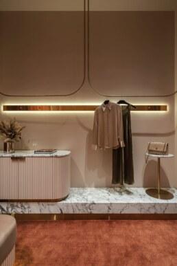 Fitting room design, Interior