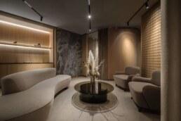 Fitting room interior, Recreation area, Design