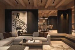 Chamonix chalet, living room