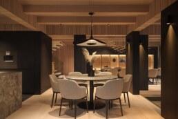 Chamonix chalet, dining room