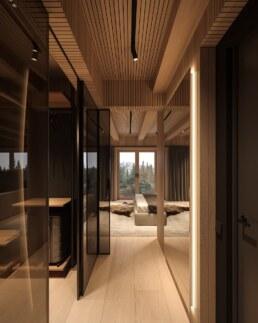 Chamonix chalet, corridor