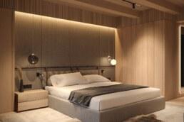 Chamonix chalet, bedroom