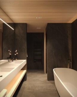 Chamonix chalet, bathroom