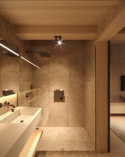 Chamonix chalet, restroom