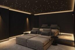 Chamonix chalet, home cinema