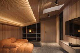 Chamonix chalet, game room